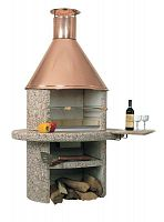 Барбекю пристенные схема печь для барбекю